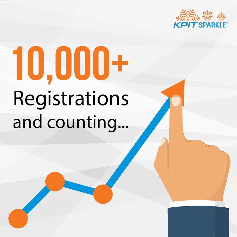 10,000+ registrations received across India so far. What are you waiting for? Register before 16th Oct #KPITSparkle  https:// goo.gl/8RwpX1  &nbsp;  <br>http://pic.twitter.com/H5RnCslkAq