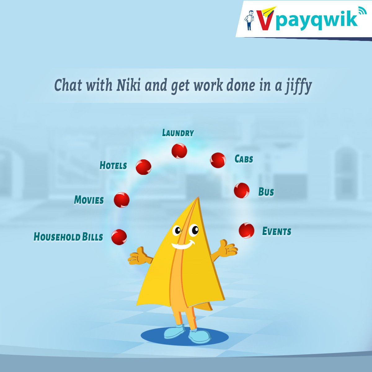 A quick and easy option to book tickets and pay bills as you chat on VPayQwik App. #VPayQwik #ChatBot #DigitalWallet #BillPayments<br>http://pic.twitter.com/EAuFRQ5aGw