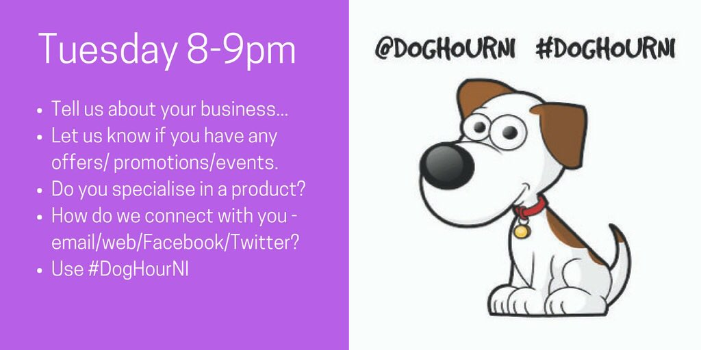 Join us tonight for #DogHourNI from 8-9pm