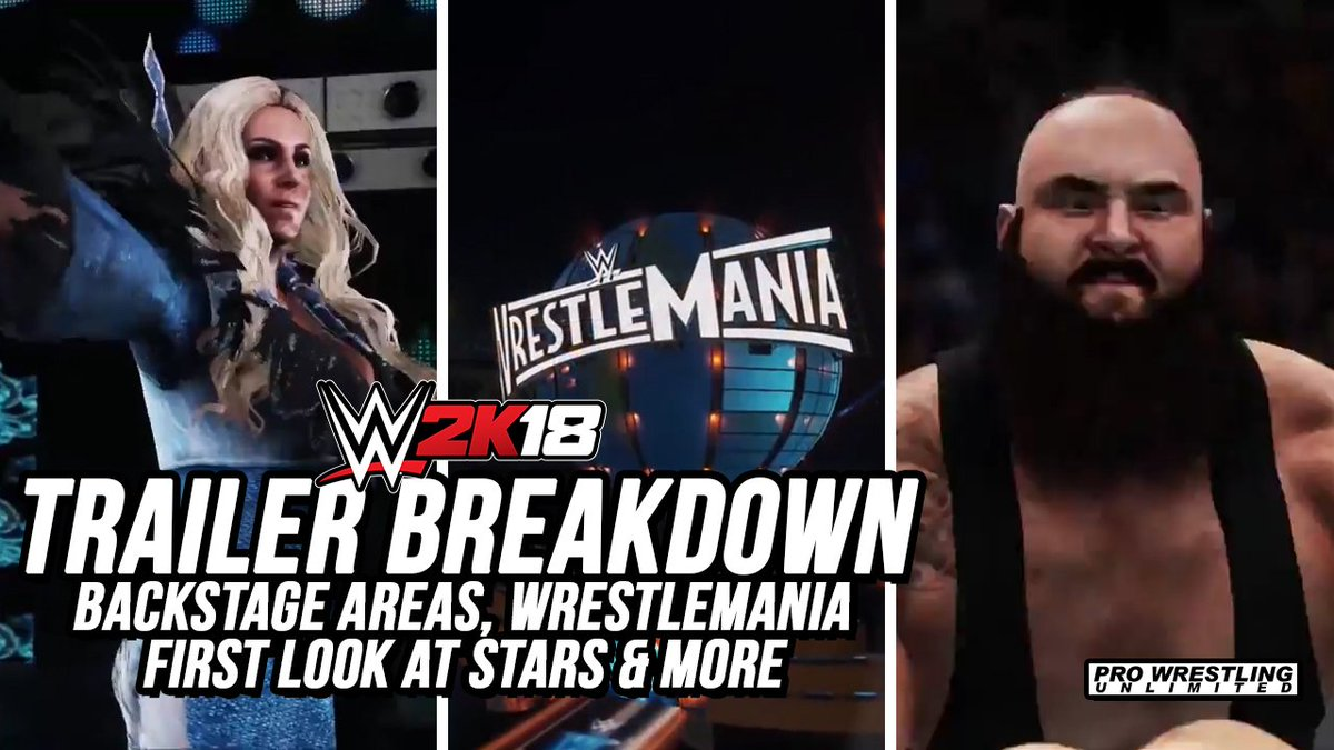 #WWE2K18 Gameplay Trailer Breakdown: Backstage Areas, #WrestleMania, First Look At Stars &amp; More  Video:  http:// bit.ly/2fv5Rfd  &nbsp;  <br>http://pic.twitter.com/E4cm0nKA1I