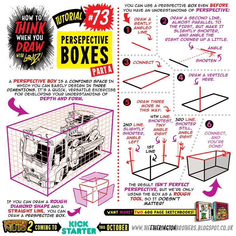 How to draw with PERSPECTIVE BOXES Pt1:  https:// theetheringtonbrothers.blogspot.co.uk/2017/09/how-to -think-when-you-draw-with.html &nbsp; …  @phoenixcomicuk #gamedev #animationdev #howtodraw #tutorial #conceptart #art<br>http://pic.twitter.com/SoO1Oj7VHZ