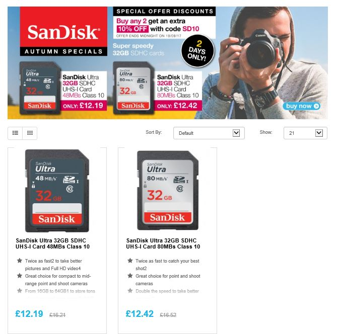 Special on @sanDisk SDHC/XC cards  http:// ow.ly/Lw8730fefsm  &nbsp;   #RT #Follow #Win Save Share #MultiBuy any 2 Extra 10% off our special low price <br>http://pic.twitter.com/0nT8yKihoY