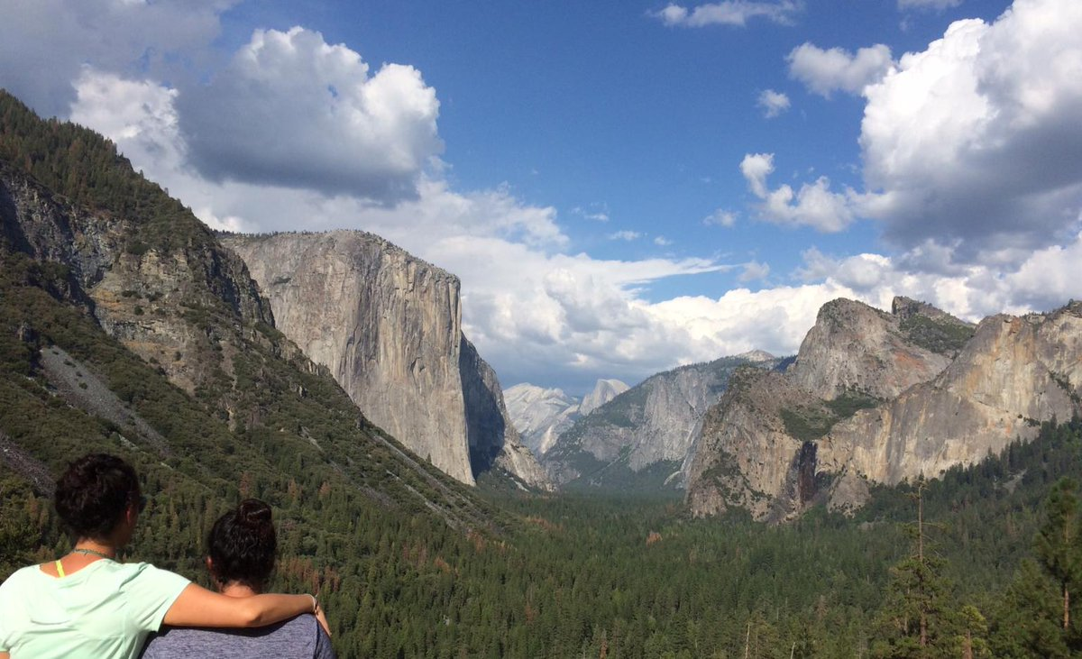 Down the yosemite valley