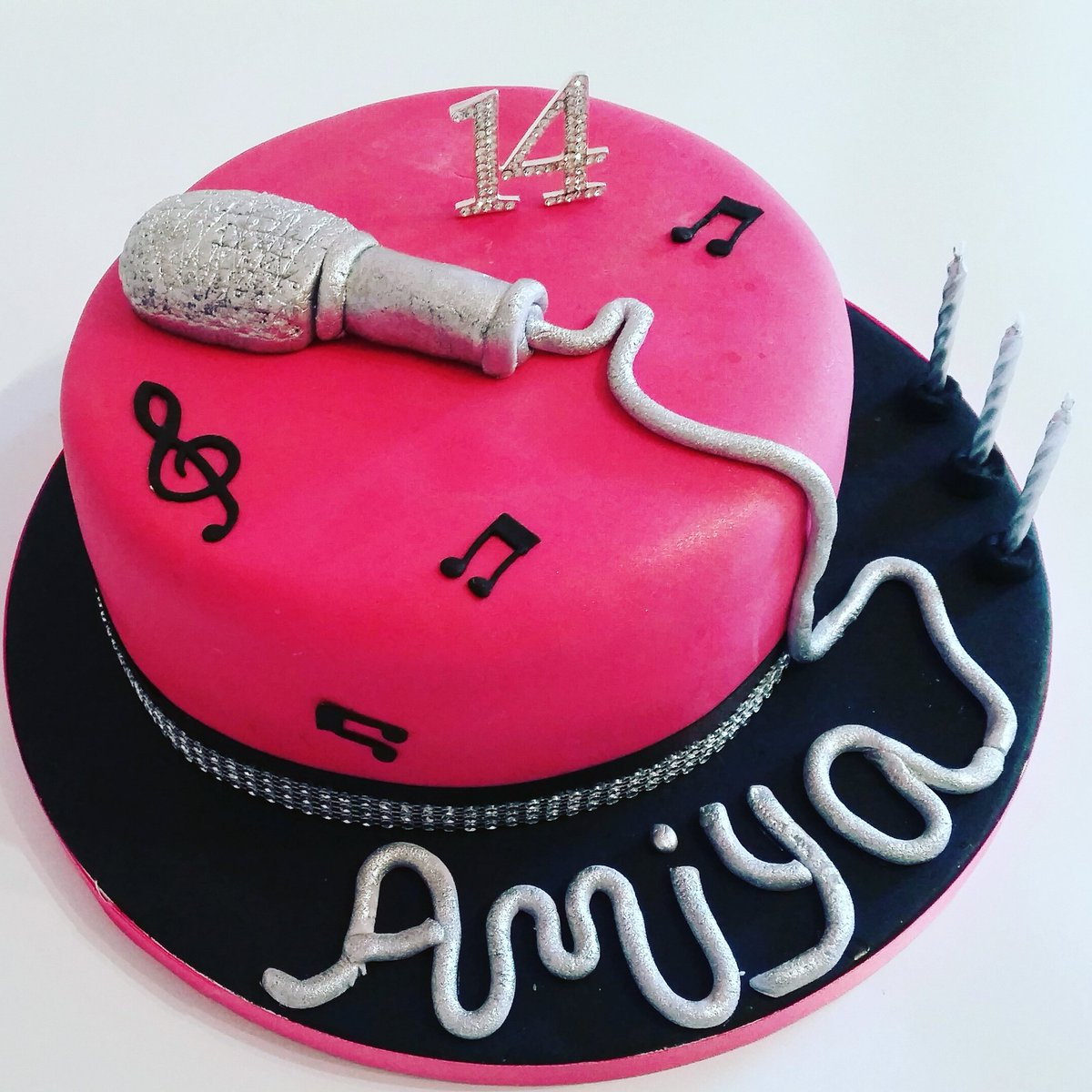 Awesome Delights By Cynthia On Twitter A Cool Cake For A Musical Teen Birthday Cards Printable Trancafe Filternl