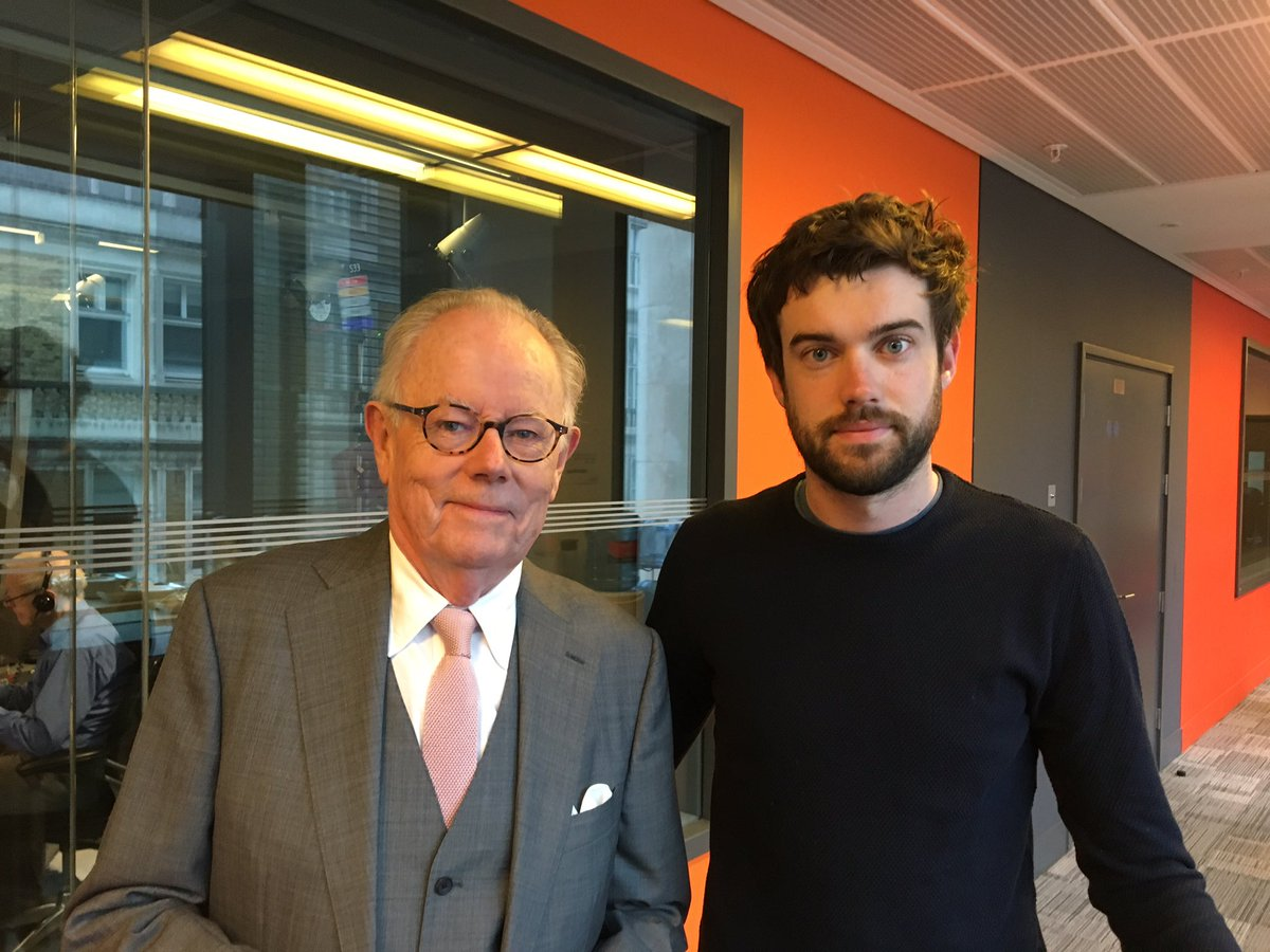 Stay tuned... @jackwhitehall and his dad Michael are next in studio #r4today