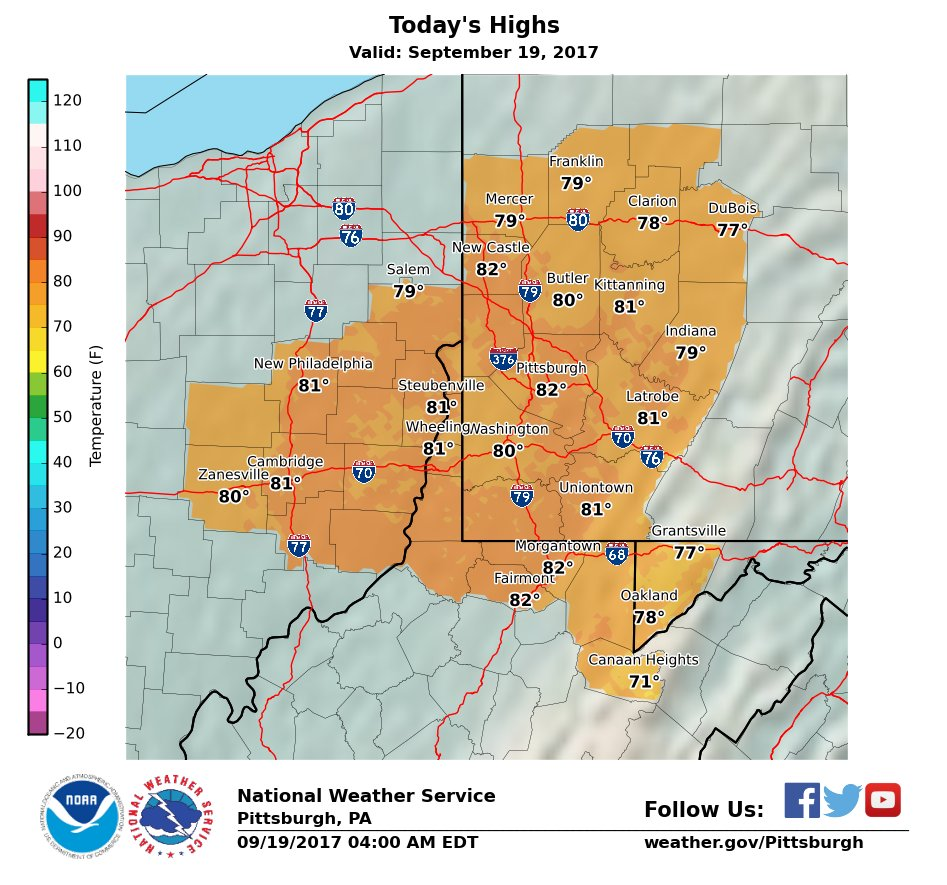 Stationary Front On A Weather Map.Nws Pittsburgh On Twitter Erly Am Weather Map Radar Image Partly