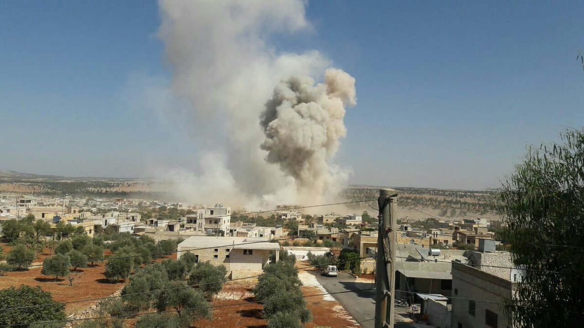 Airstrike earlier today targeted Kafranbel  town