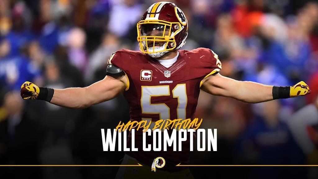 RT to wish #Redskins LB @_willcompton a happy birthday! #HTTR