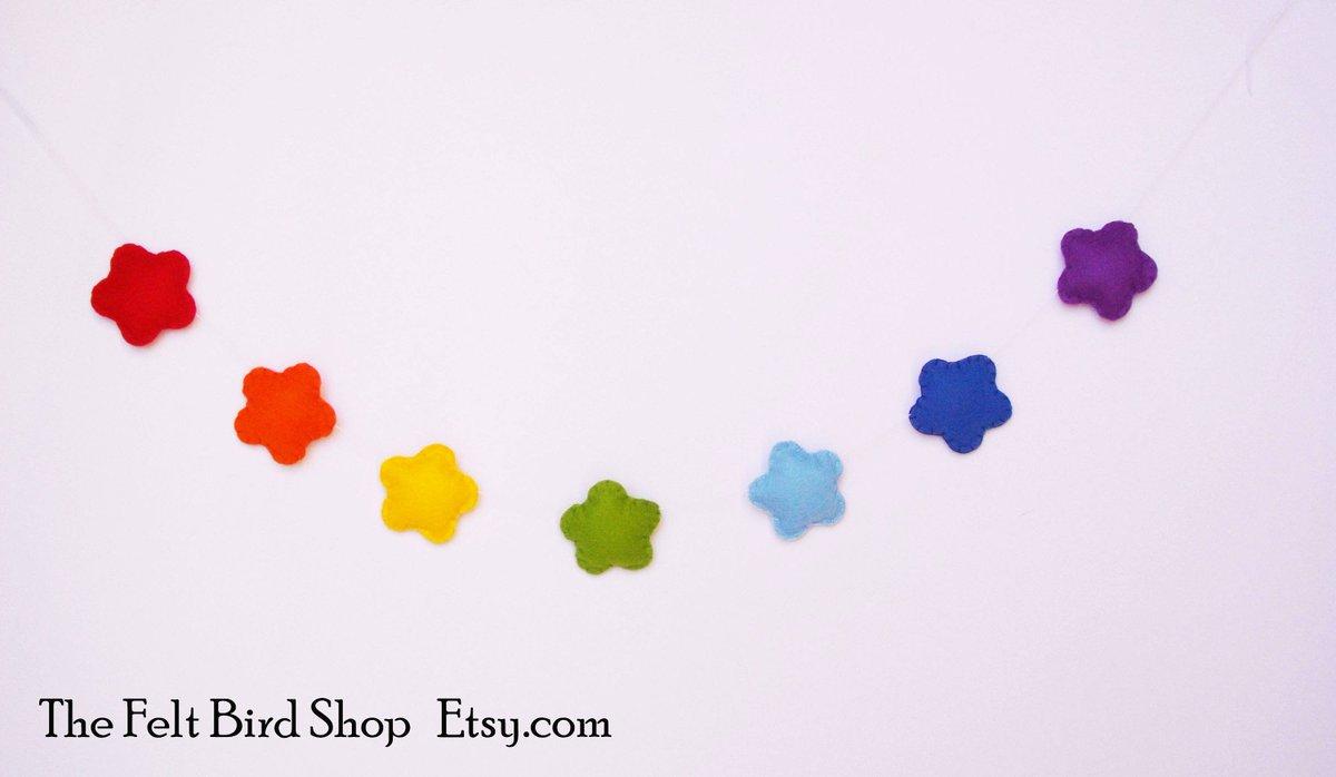 Rainbow Stars Garland, handmade in my shop:  http:// etsy.me/2w4LJqE  &nbsp;   via @Etsy #ShoppersHour #Rainbow #BabyShower <br>http://pic.twitter.com/36OeO4RrpT