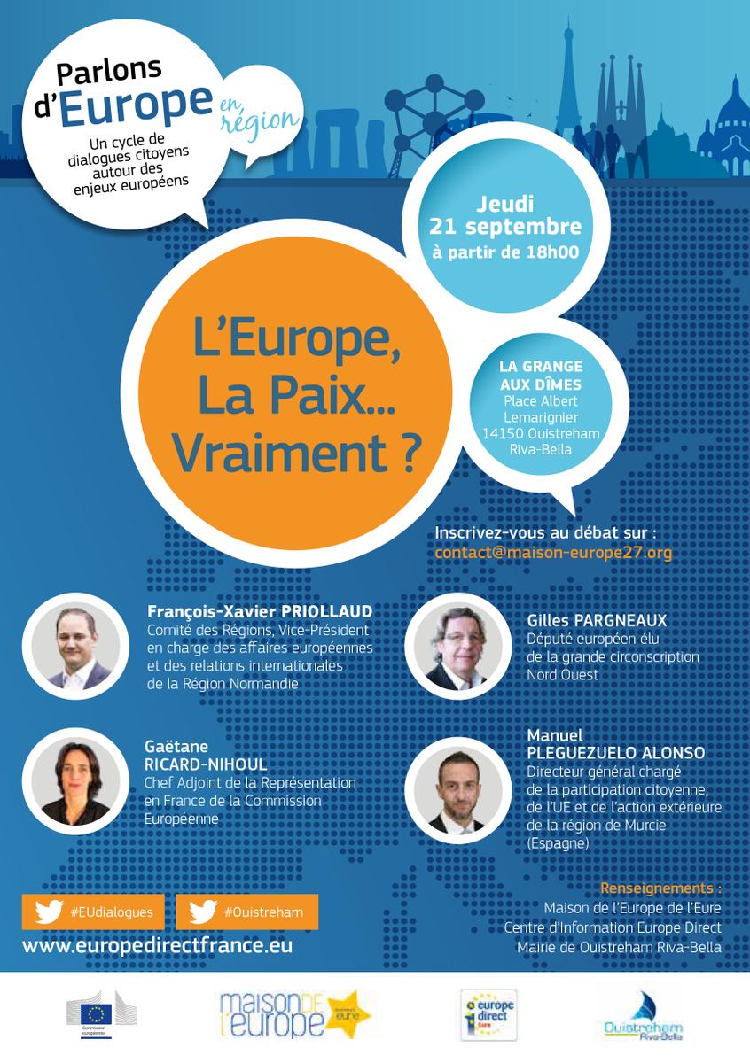 #EUDialogues en #Normandie à l'occasion de la Journée Internationale de la Paix🕊️>  https://t.co/2lcgklUBo1#Ouistreham