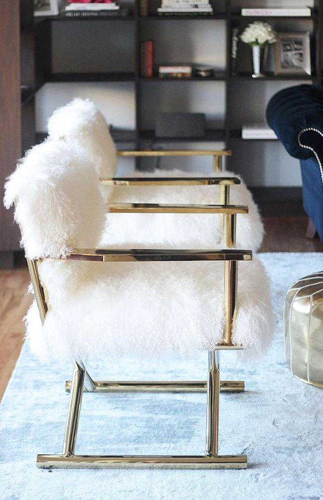 Faux Fur Desk Stool