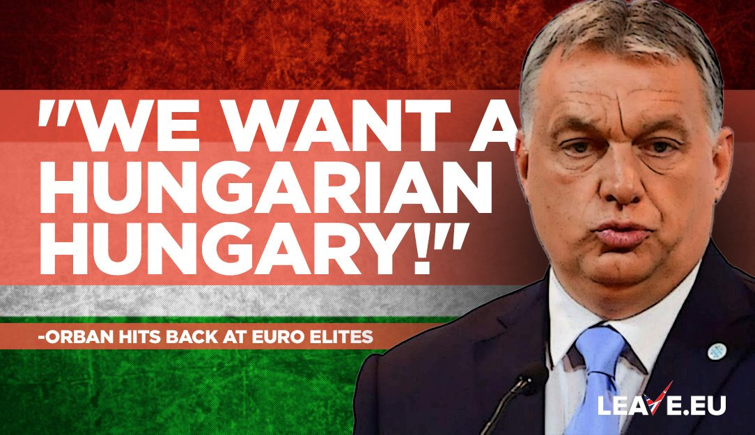 #ViktorOrbán is standing up for his people against mad #EU #migration policy. Our weak leaders should take notes!   http://www. westmonster.com/orban-we-want- a-hungarian-hungary-and-a-european-europe/ &nbsp; … <br>http://pic.twitter.com/gGMdHWe2nA