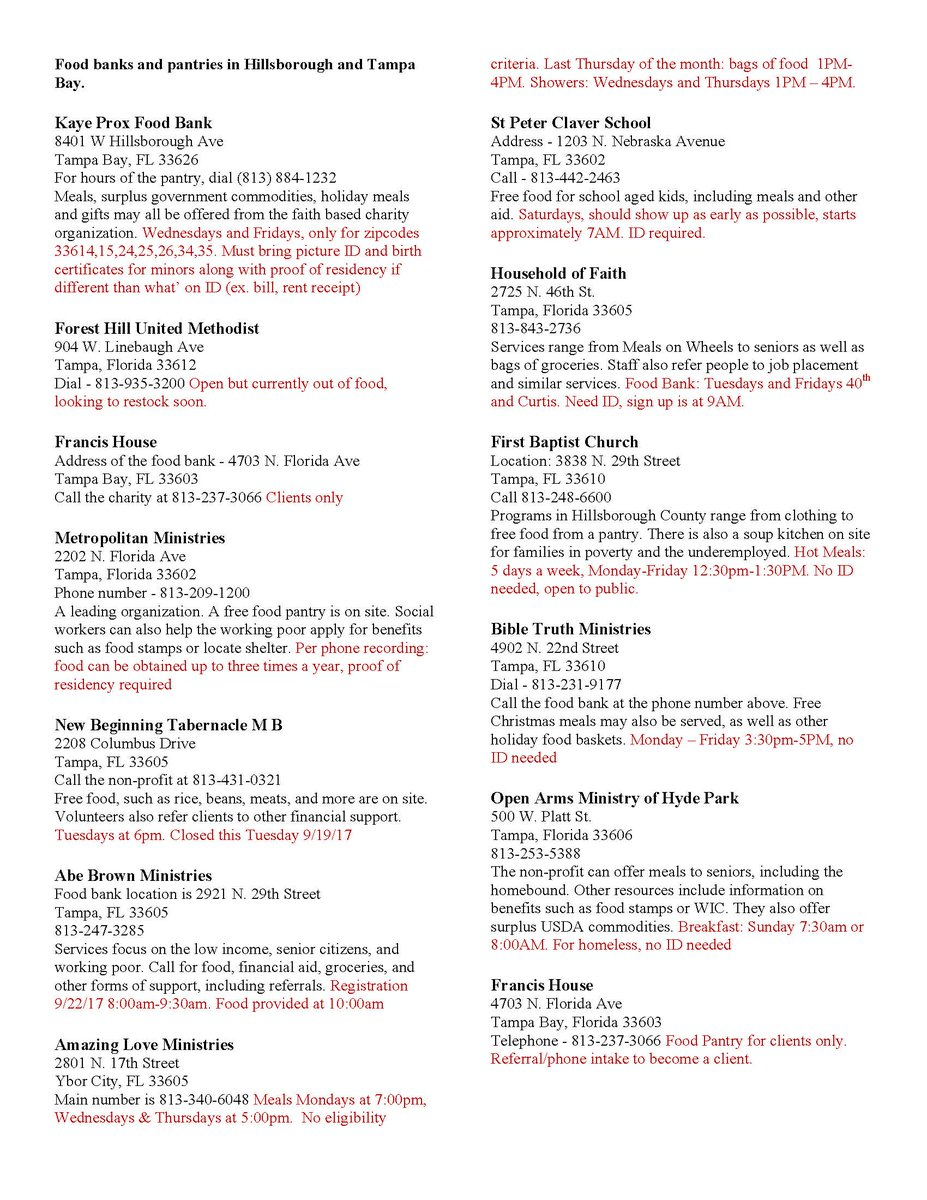 Childrens board on twitter if you or someone you know is in childrens board on twitter if you or someone you know is in need of food below is a list of food pantries in hillsborough county ccuart Image collections