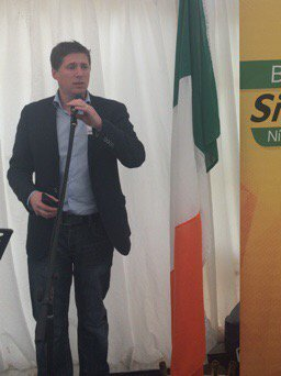 . @mattcarthy opens United Ireland discussion at @sinnfeinireland tent...