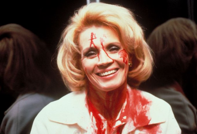 Happy birthday Angie Dickinson! Here she is in good spirits on the set of DRESSED TO KILL (1980)