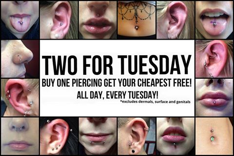 #TuesdayMotivation pop in for a #piercing today and get 2 for 1 in our #TwoForTuesday offer! <br>http://pic.twitter.com/8lScyBGK8F
