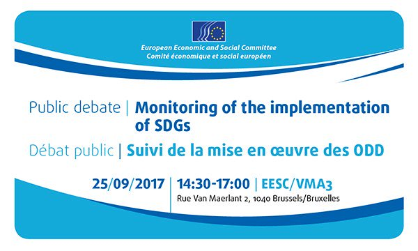 Open, transparent &amp; accountable monitoring of #implementation  to #SDGs success: Join the debate with @jmlanfranco  http://www. eesc.europa.eu/en/agenda/our- events/events/monitoring-implementation-sdgs &nbsp; … <br>http://pic.twitter.com/3Mwk56sqFs