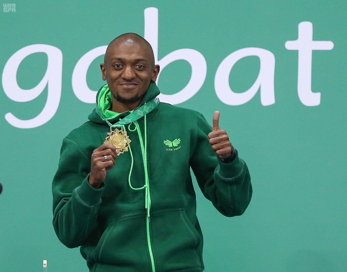 العداء السعودي أحمد خضر يحقق أول ذهبية سعودية في دورة الألعاب الآسيوية.   #واس