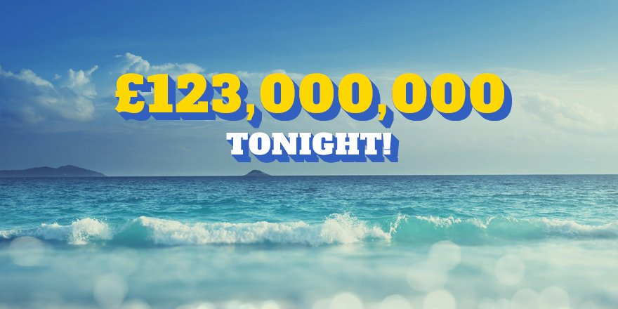 Tonight&#39;s #EuroMillions jackpot has been re-estimated to a whopping £123 MILLION!! Pick your lucky numbers here:  http:// bit.ly/EMJackpot  &nbsp;  <br>http://pic.twitter.com/BbC1S4ysVy