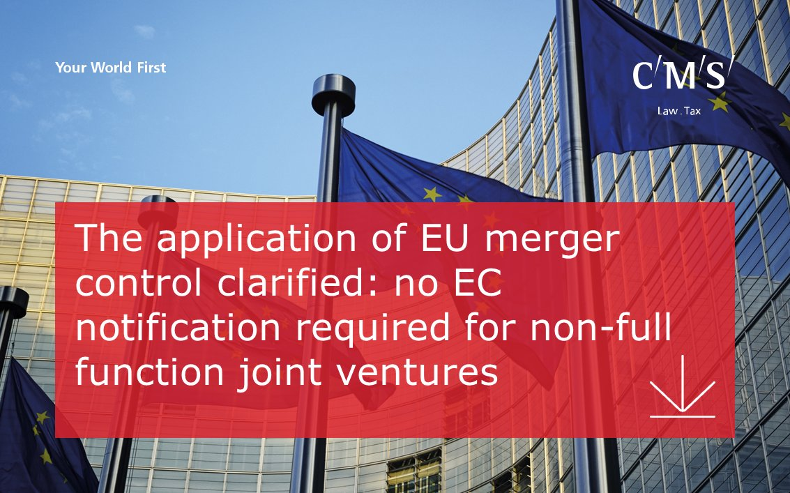 test Twitter Media - The application of EU merger control clarified: no EC notification required for non-full function joint ventures. https://t.co/tBvHnT8Oko https://t.co/J0vzbG1HsP
