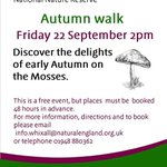 22 Sept: Join the #Autumn #Walk at Fenn's, Whixall & Bettisfield Mosses #NNR & see the mosses in it's glorious #autumncolours #LIFE25NATURA!