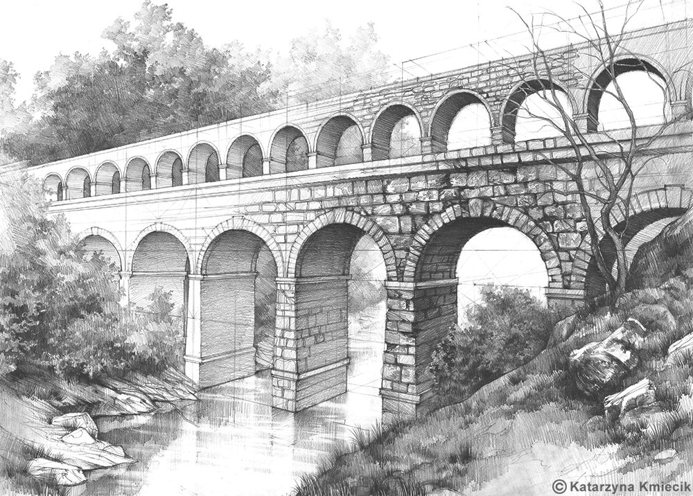 Pencil drawing of the Roman Aqueduct, drawn from imagination. #antient #rome #drawing #pencil #architecture #sketch<br>http://pic.twitter.com/00va4Cm47t