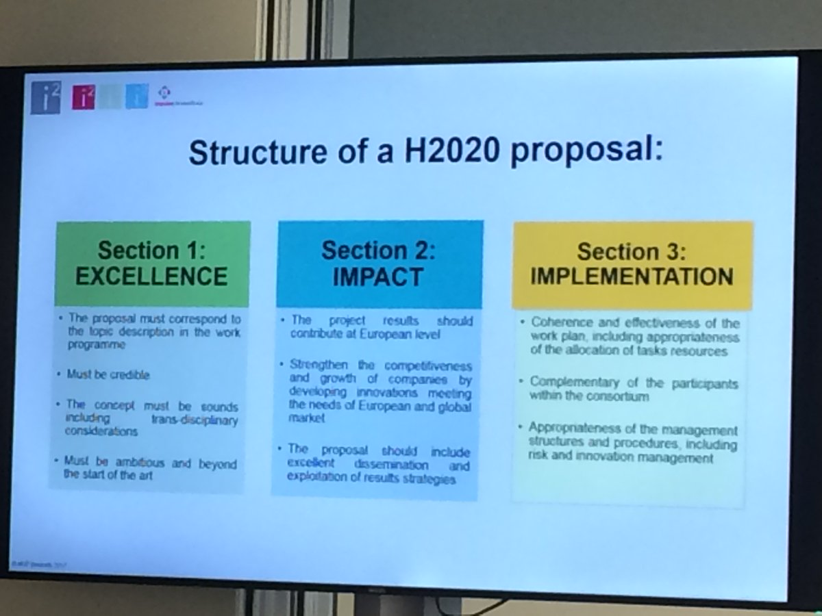 NOW Workshop: How to write a successful proposal? Structure of a #H2020 proposal by @ElenaMatvejeva #exellence #impact #implementation <br>http://pic.twitter.com/MtEgQW4ZRu