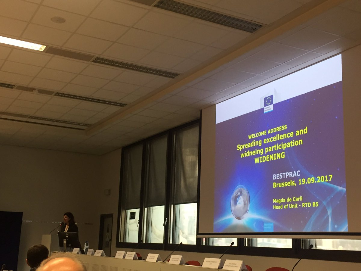 Spreading #excellence and widening #participation #BESTPRAC by Madga De Carli @EU_Commission @COSTprogramme<br>http://pic.twitter.com/Pz4dK3WBQ7