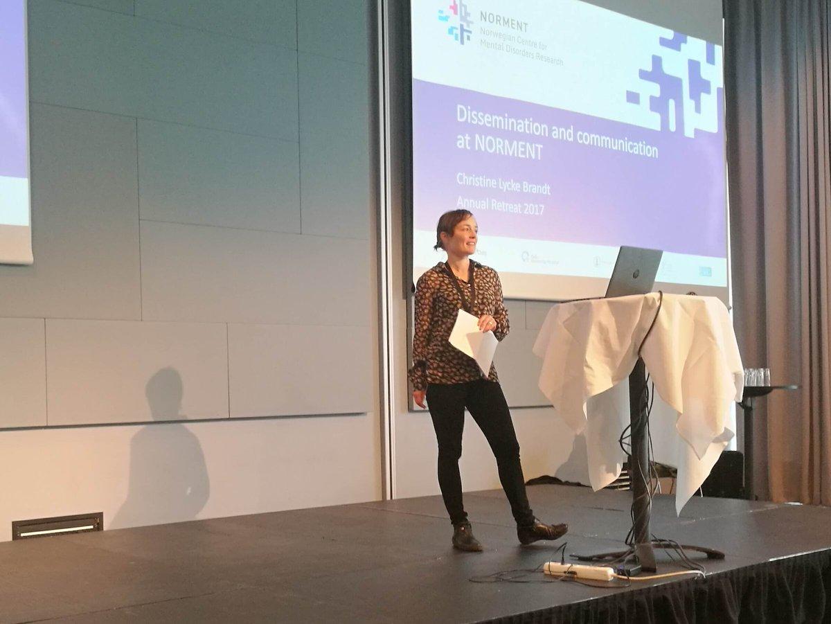 Christine L Brandt &amp; @dsquintana on #dissemination, #communication, #socialmedia for researchers @Twitter #podcast #blog #NORMENT17<br>http://pic.twitter.com/k7Z4c6TcZ5