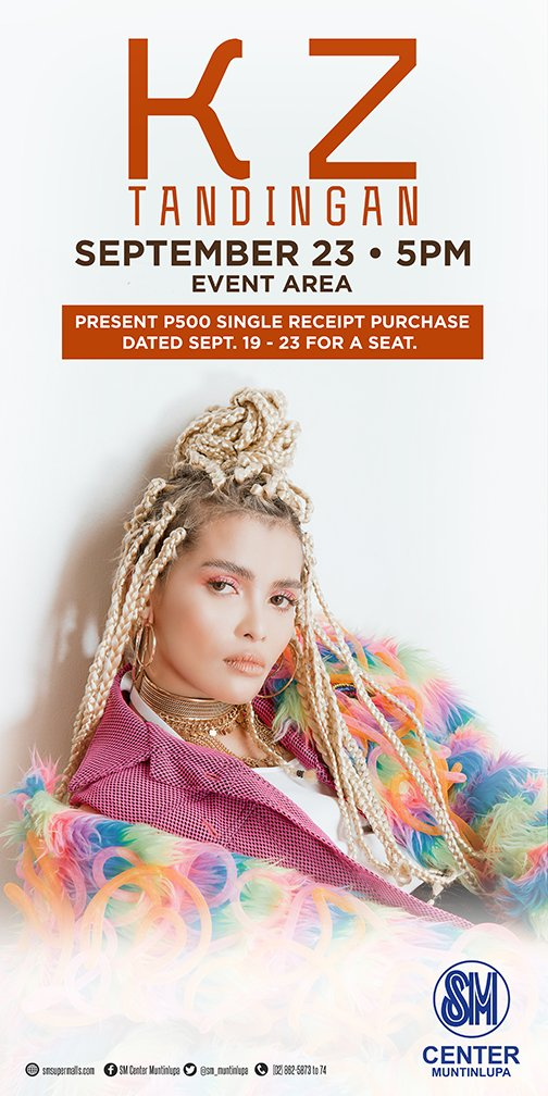 Watch @KZofficial LIVE at SM Center Muntinlupa on 9.23.2017 at 5pm! See you there! :) #SMEvents #EverythingsHereAtSM https://t.co/hEaN0l0cYF