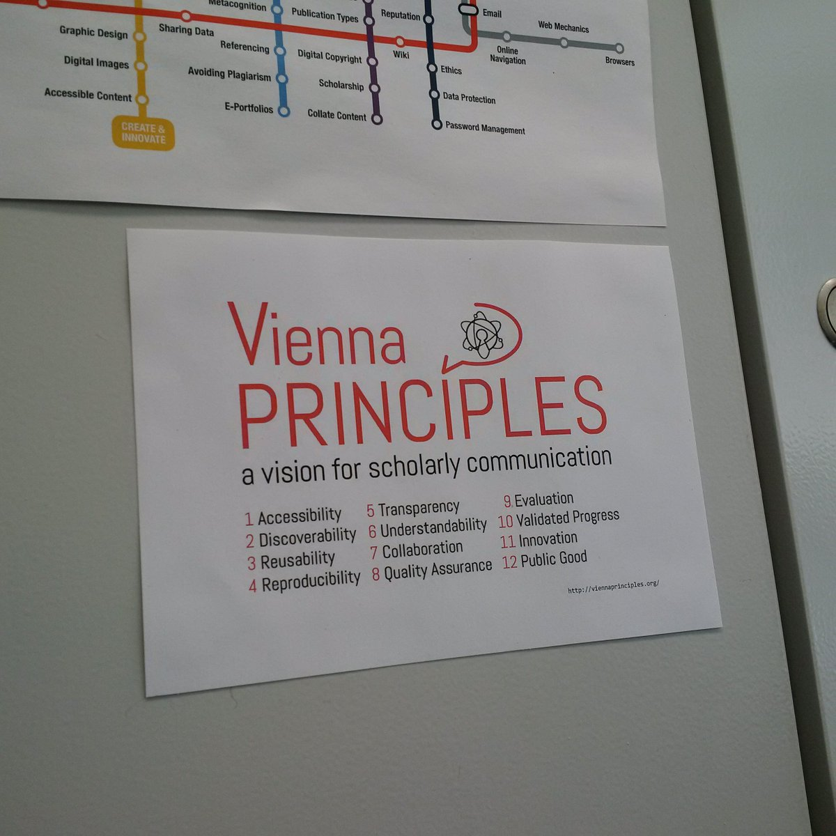 the &quot;Vienna Principles&quot; also look good when printed and put on an office cabinet door. :)  http:// viennaprinciples.org / &nbsp;    #scholarlycommunication <br>http://pic.twitter.com/Yr275YuXKe