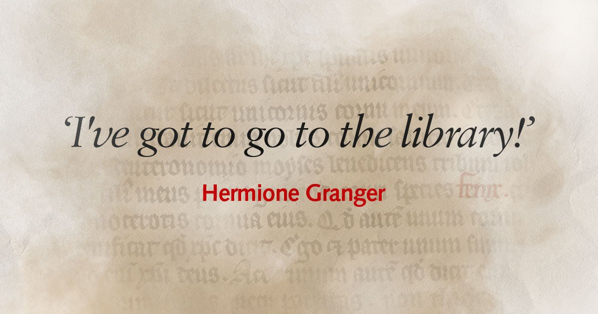 Not that we have favourites or anything, but we really couldn't agree more with Miss Granger. #HappyBirthdayHermione! #BLHarryPotter