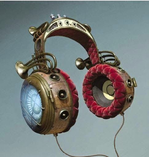 #Geek Awesome of the Day: #Steampunk #Headphones #Music Almighty Campaign by @Nokia #WKLondon v/ @Mad_Slug #SamaGeek