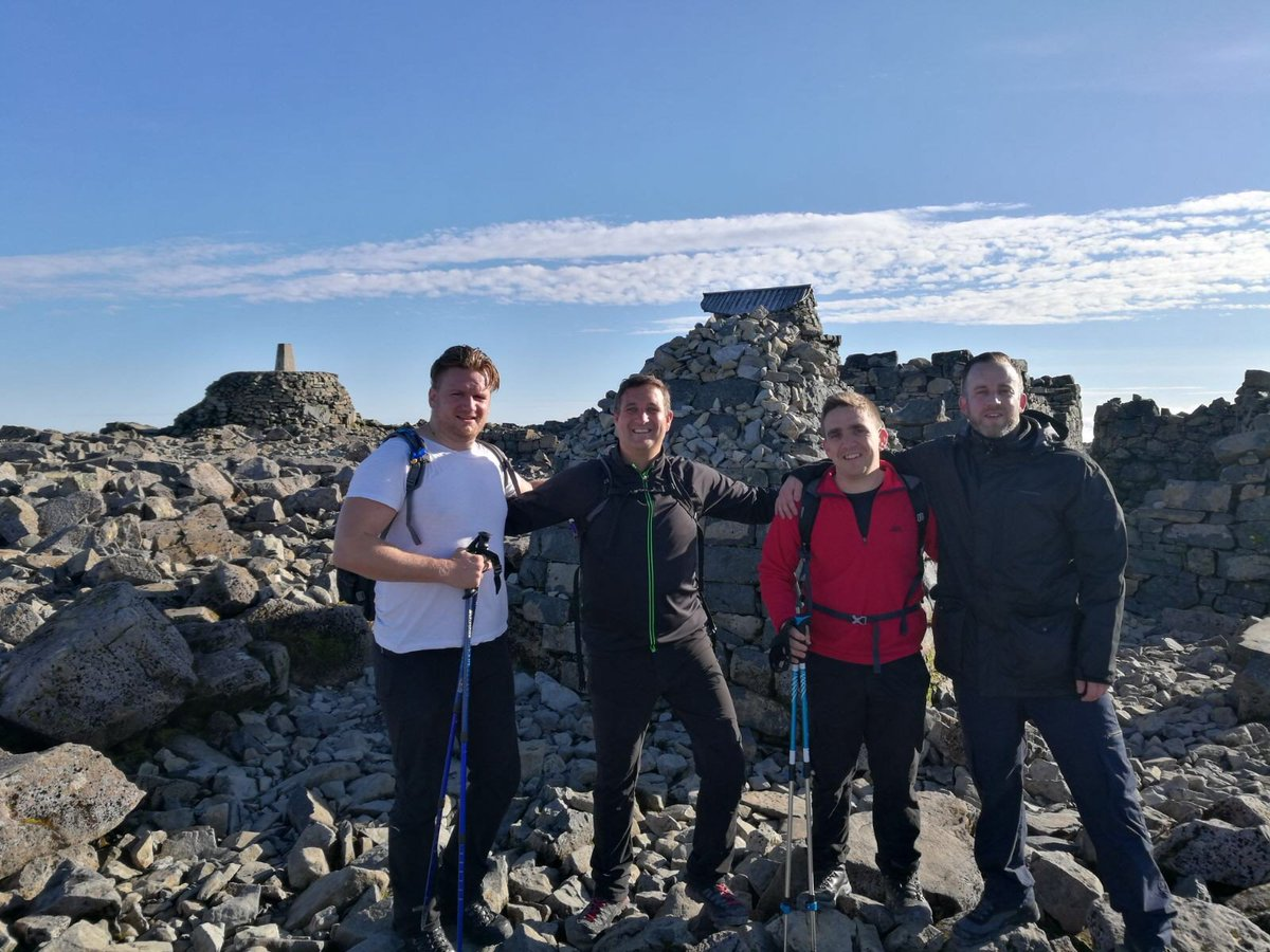 He made it!  Andy and the team successfuly reached the top of #BenNevis after 5 hours! Brilliant work guys!  #Charity #ThreePeaks <br>http://pic.twitter.com/naU8tnw5B8
