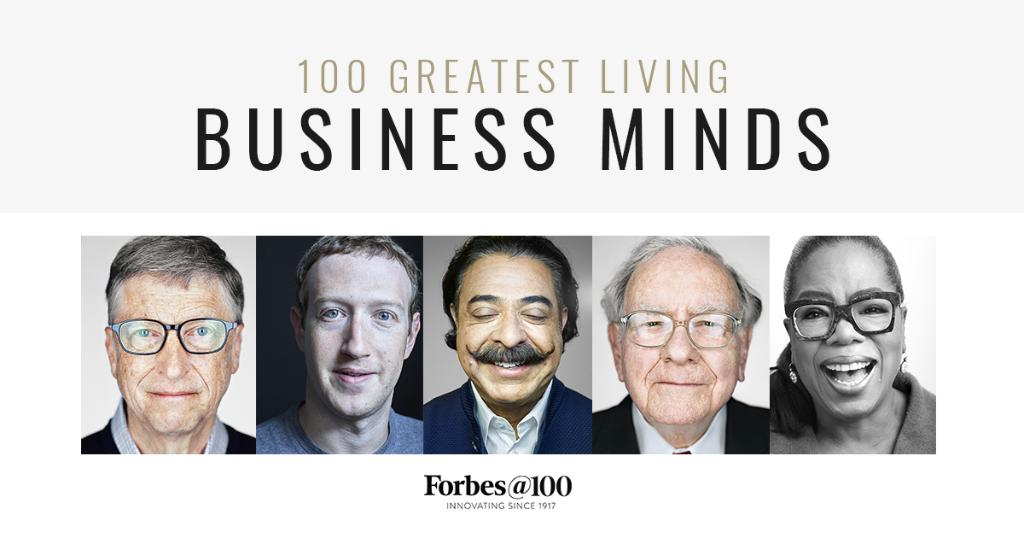 RT @Forbes: As Forbes turns 100, we announce the Greatest Living Business Minds https://t.co/gPJefyKW1l #ForbesAt100 https://t.co/C6CjoRTSeY