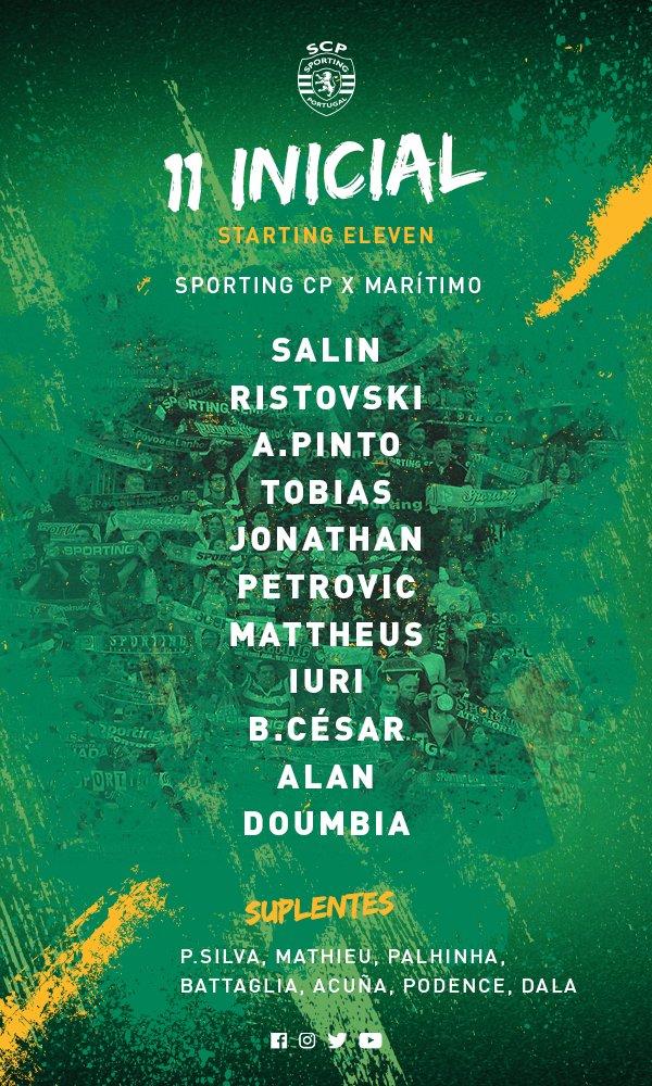 São estes os 11 Leões que vão começar a partida! #DiaDeSporting #SCPCSM #TaçaCTT