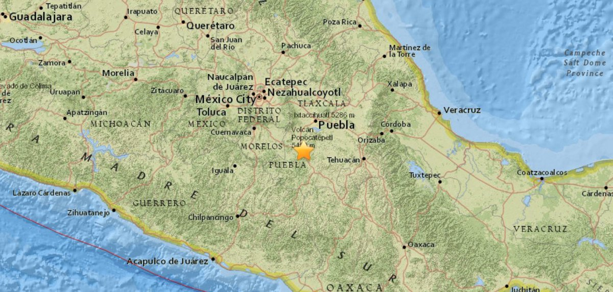 #BREAKING: M7.1 #earthquake hits 5km ENE of Raboso, #Mexico (USGS)