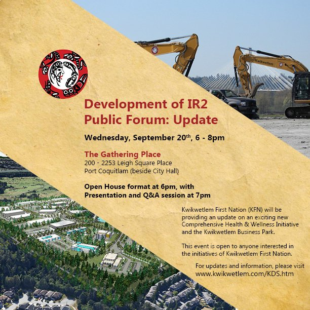 Residents of @CityofPoCo , @cityofcoquitlam, @CityofPoMo and beyond - please join us tomorrow at KFN&#39;s Open House! #KwikwetlemBP #EcDev<br>http://pic.twitter.com/ewAAHOZcf9