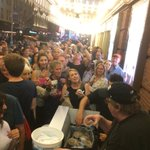 On Friday nights I take my entire B'way audience out for a treat! Last Friday I served up free Ben & Jerry's to everyone after the show!