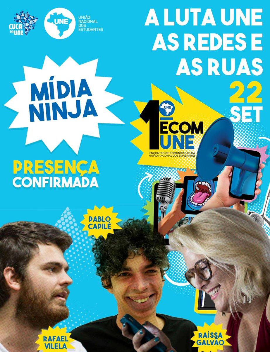 Se liga que a galera do @MidiaNinja já confirmou presença no nosso 1° Encontro de Comunicação - ECOM.