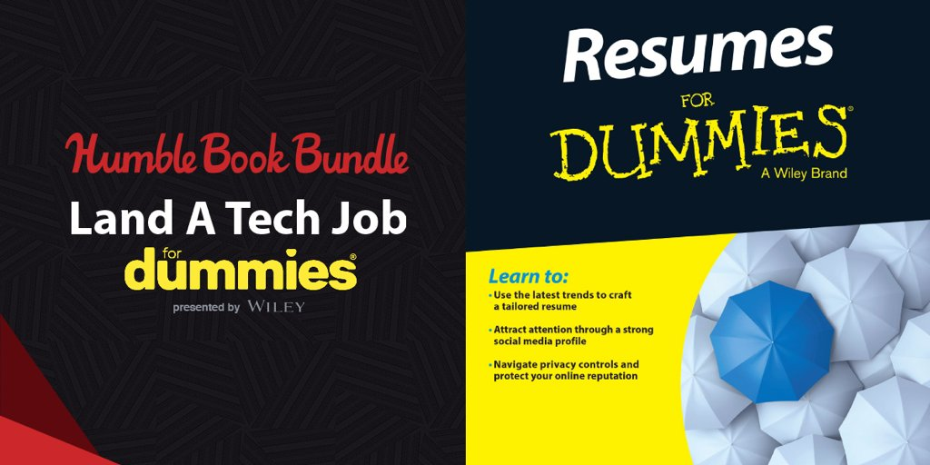 get resumes for dummies and more in the land a tech job book bundle - Resumes For Dummies