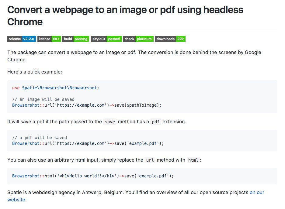 Web Page As Pdf In Php