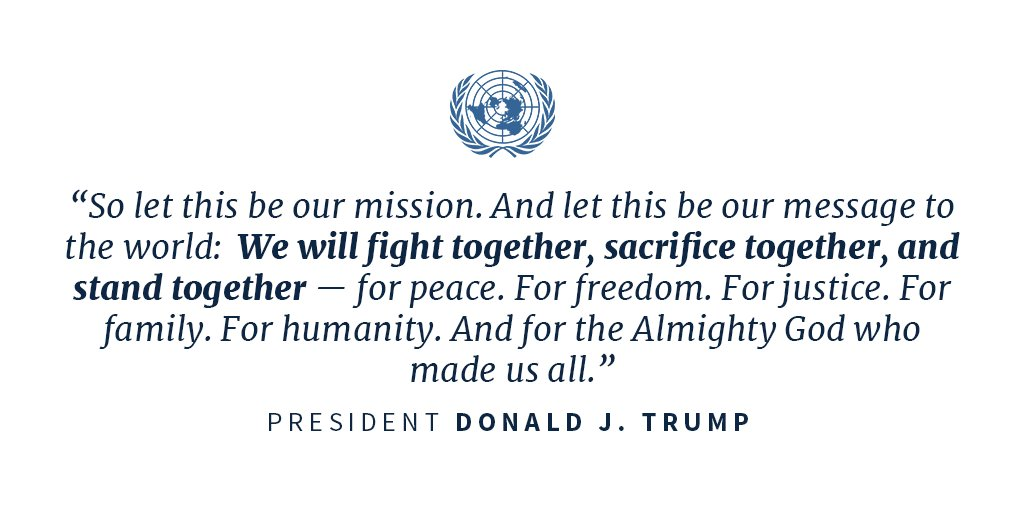 'We will fight together, sacrifice together, and stand together—for peace.' #UNGA https://t.co/sIjB3PSOfg https://t.co/FUEtNpfZYk