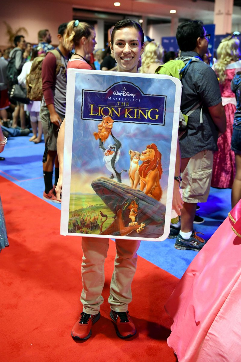 #DisneySide #Cosplay Series from #Disney&#39;s #D23Expo2017 The #VHS Tape from The #LionKing was in attendance at #D23 #D23Expo #OldSchool<br>http://pic.twitter.com/sXbL2BiPCD