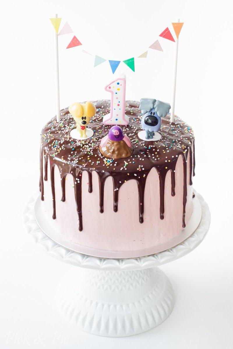 taart maken voor 1e verjaardag Piek&Pie on Twitter:
