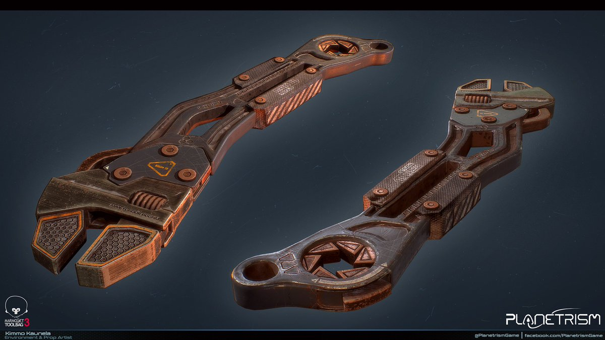 Wrench model for @PlanetrismGame  #indiedev #gamedev #gameart #tool #virtualreality #ue4 #vr #exoplanet #scifi #model #device #item #wrench<br>http://pic.twitter.com/qx4enmrj0l