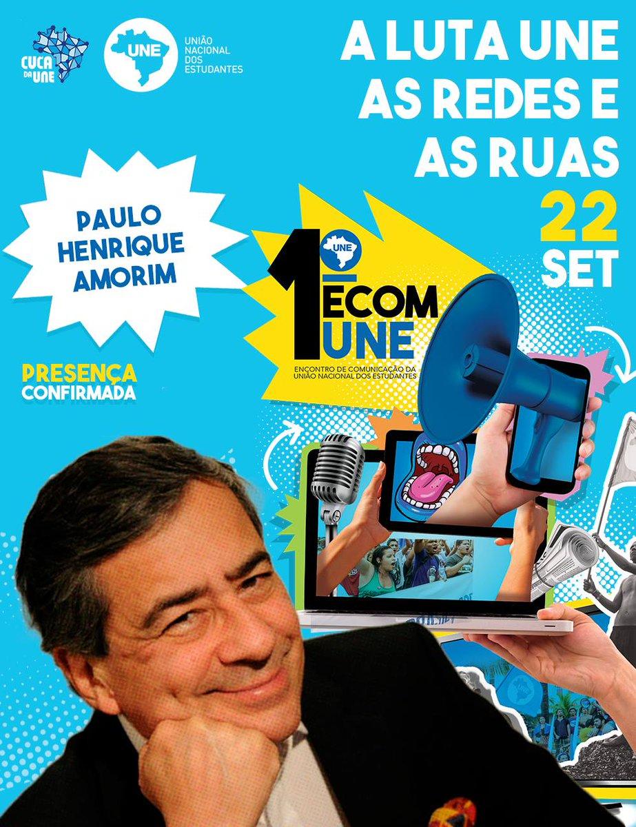 Ei, o jornalista Paulo Henrique Amorim, do @ConversaAfiada, já confirmou presença no 1° Encontro de Comunicação! Você vem, né?