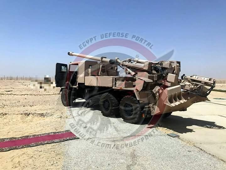بالصور .. مصر تختبر مدفع الهاوتزر الفرنسي  Caesar  DKGQG-kX0AMtN07