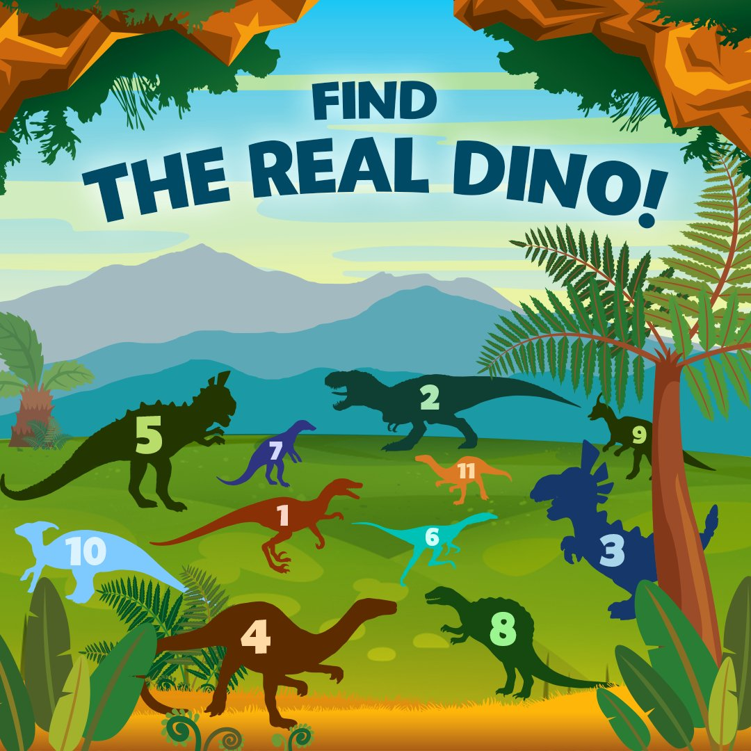 Can you find the real Dino 🐲 in the picture? Let's see! ➡ https://t.co/BrXHTP22wX 💥 https://t.co/o0DXX0sKkA