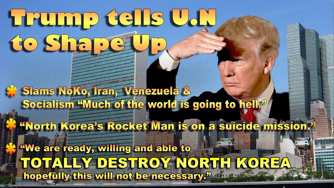 TRUMP SPEAKS TRUTH TO UN Libs and Dems can&#39;t handle THE TRUTH #POTUS  #NorthKoreaNukes  #NorthKorea #RockwetMan  &quot;Trump&#39;s UN&quot; &quot;Kim Jong-un&quot;<br>http://pic.twitter.com/Sek1tPBQvW